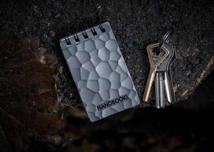 Nonobook Titanium notepad with Stone Paper