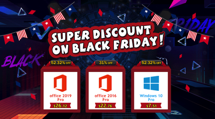 Black Friday Special Offers: Windows 10 Pro with $7.51 and Office 2019 Pro with $26.12 - Geeky Gadgets