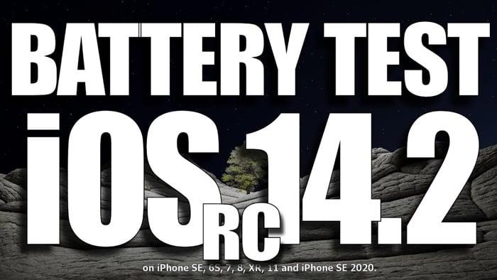 iOS 14.2 battery life