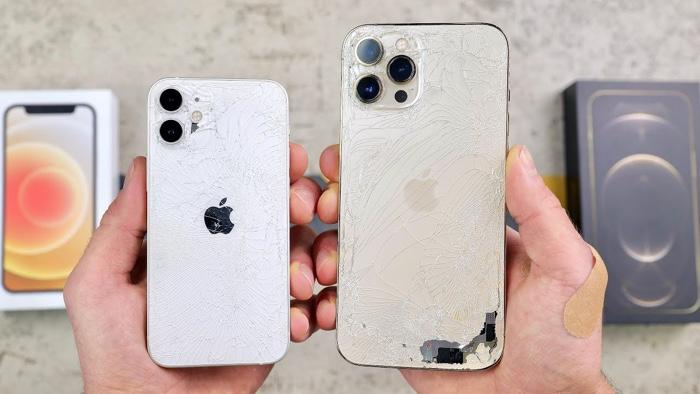 Drop test: iPhone 12 Mini vs 12 Pro Max (Video) - Geeky Gadgets