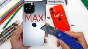 iPhone 12 Pro Max and iPhone Mini