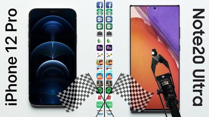 iPhone 12 Pro vs Galaxy Note 20 Ultra