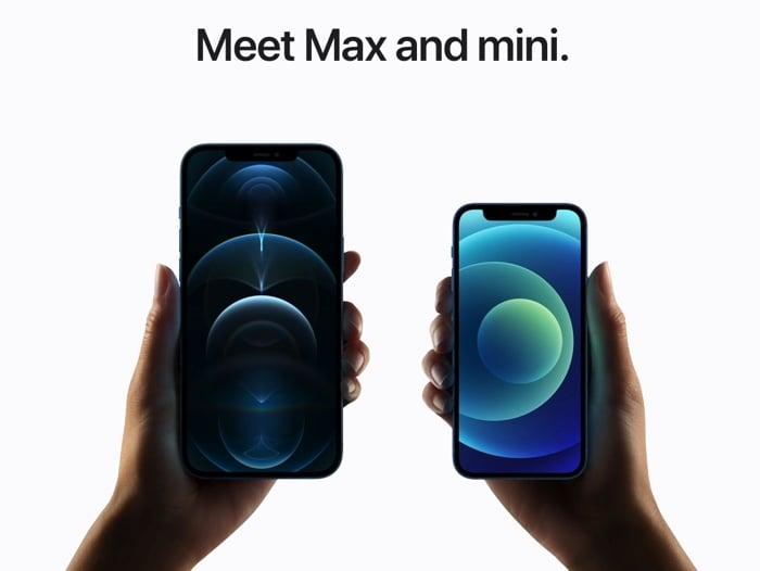 iPhone 12 Mini and iPhone 12 Pro Max