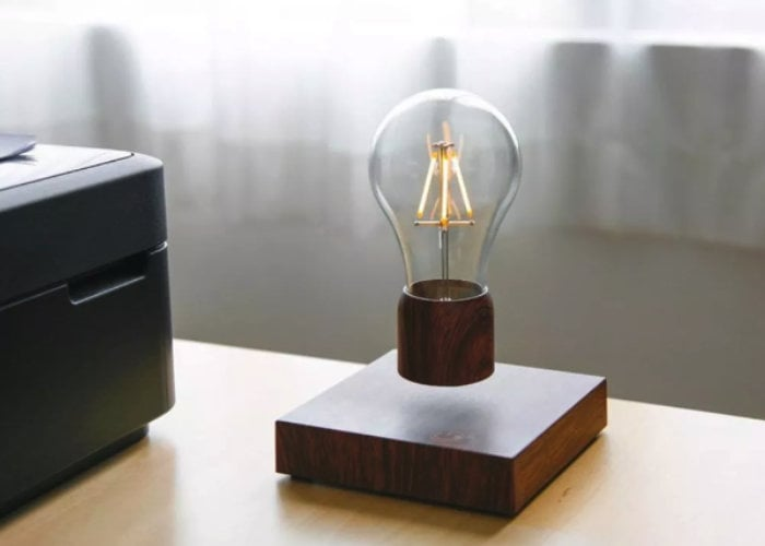 levitating filament light bulb