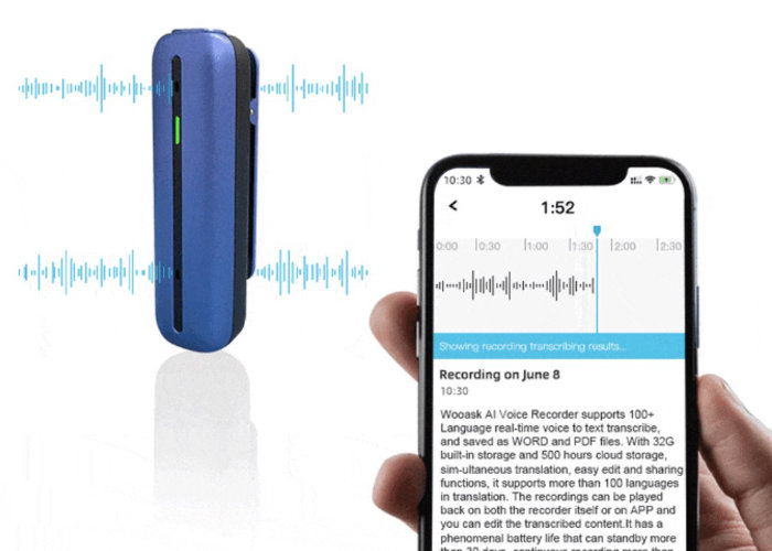 voice recorder and transcriber