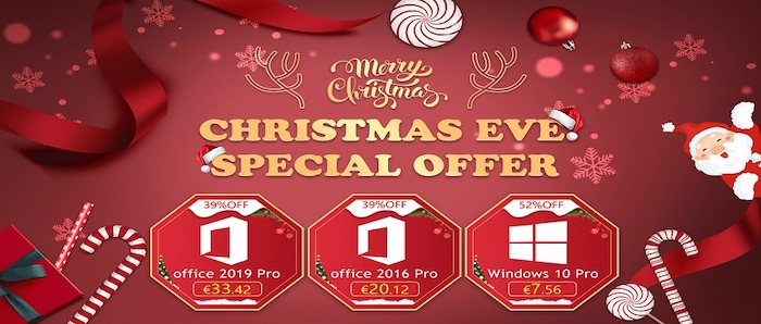 Christmas Eve Super Sales: Windows 10 Pro with $7.56 and Office 2016 Pro with $20.12 - Geeky Gadgets