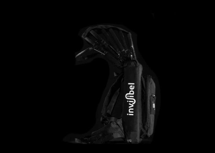 Invisibel automatic bike helmet