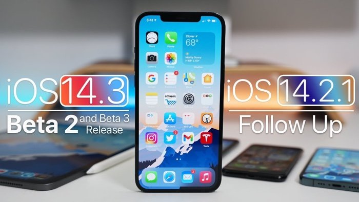 iOS 14.3 Beta 2 and iOS 14.2.1