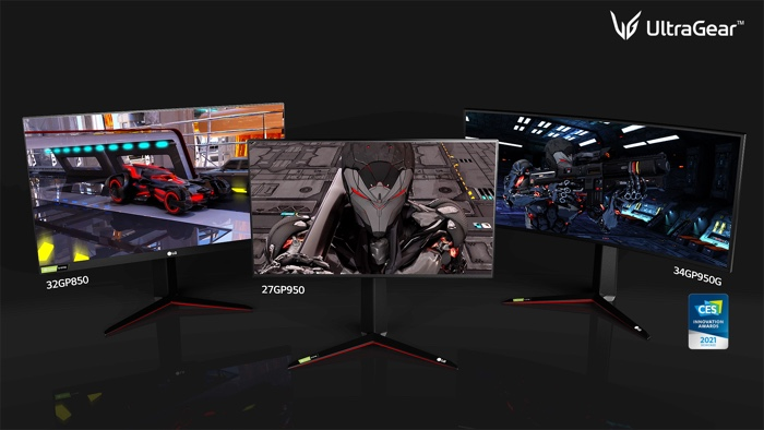2021 LG UltraGear gaming monitors