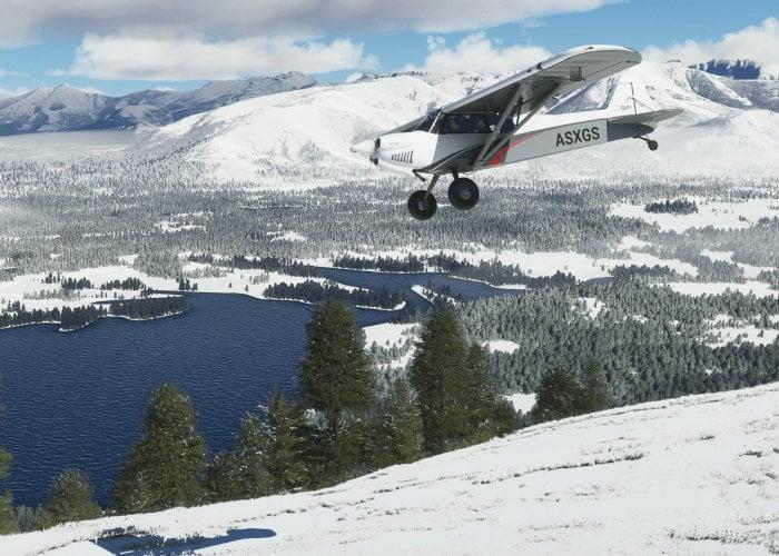 Microsoft Flight Simulator real-time snow