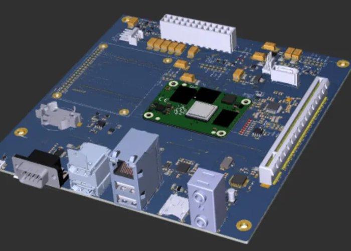 Raspberry Pi Compute Module motherboard