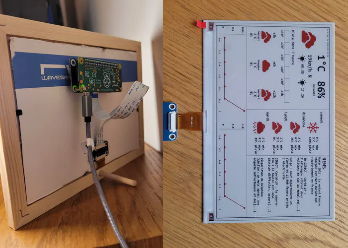 Raspberry Pi e-paper weather station