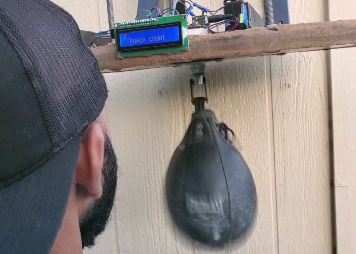 Speed bag counts your punches