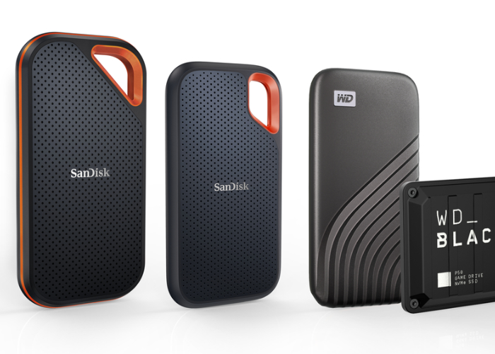 WD 4TB portable SSDs
