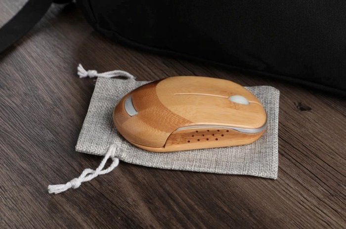 bamboo mouse with bag