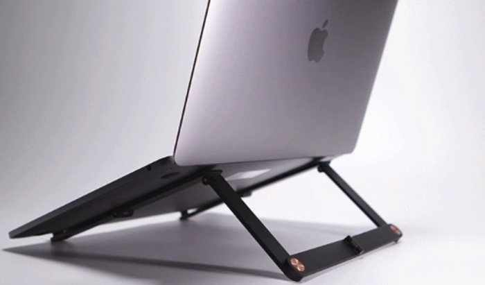 unfoled laptop stand
