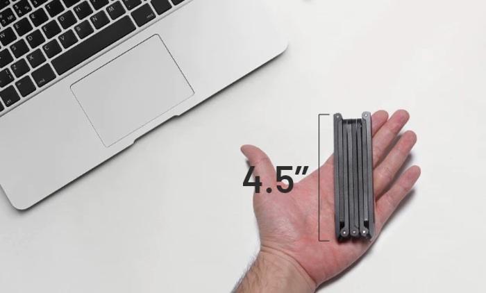 Mantiz laptop stand folded