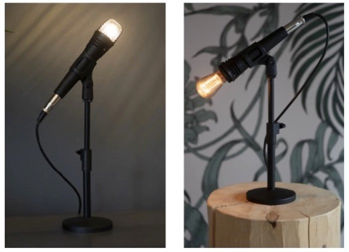 microphone stand lamp