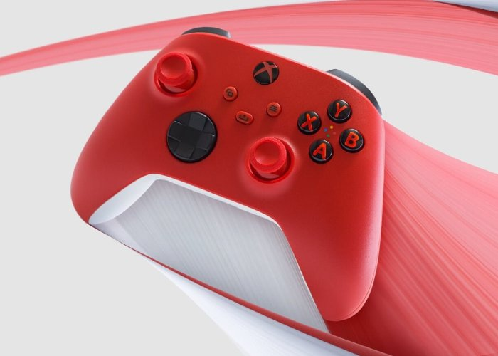 red Xbox controller