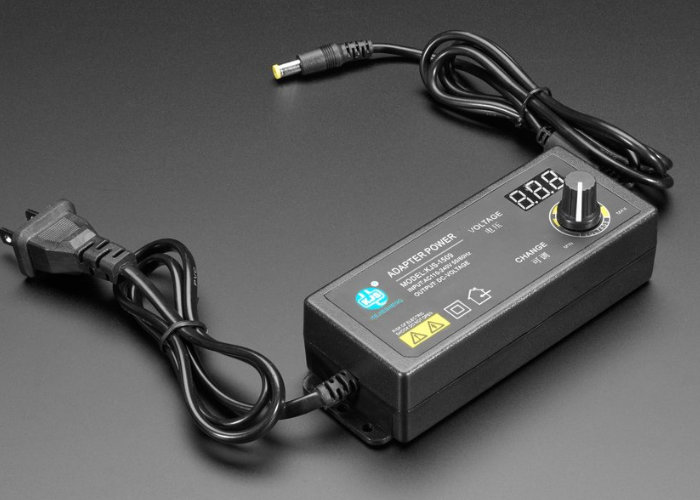 Adafruit adjustable power supply