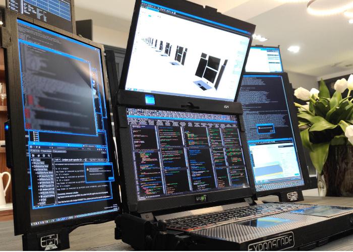 Expanscape seven screen laptop