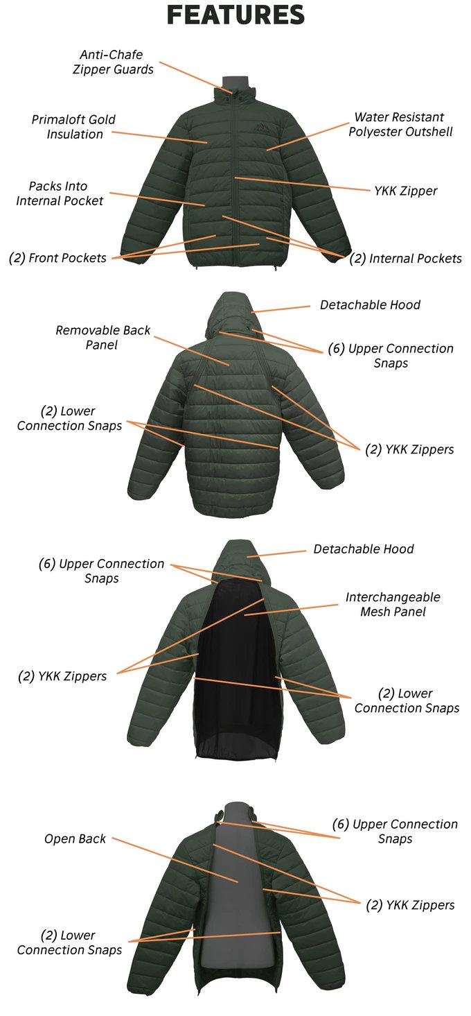 Kickstarter backpack jacket