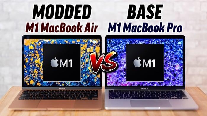 Modded M1 MacBook Air vs M1 MacBook Pro