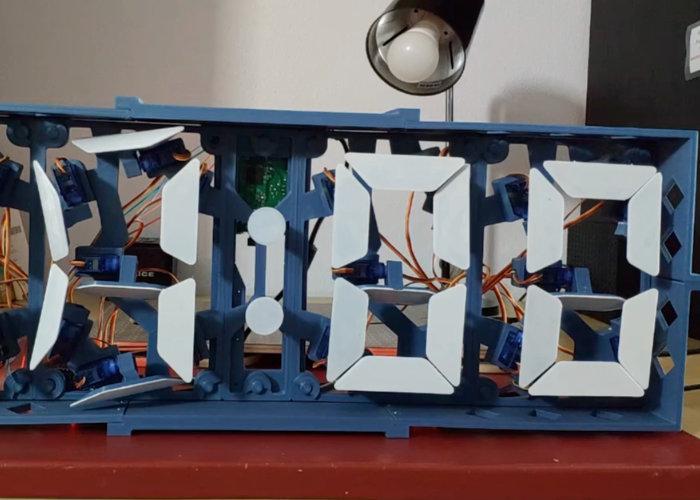 segment analogue clock