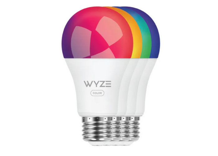 coloured smart lightbulb