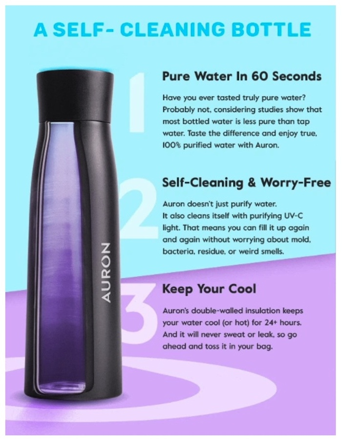 Auron smart water bottle