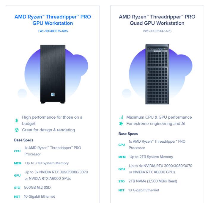 AMD Ryzen Threadripper PRO workstations