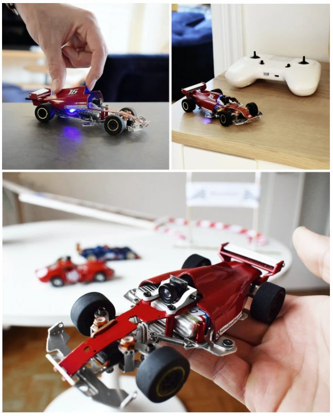Microturismo RC mini racing car with camera