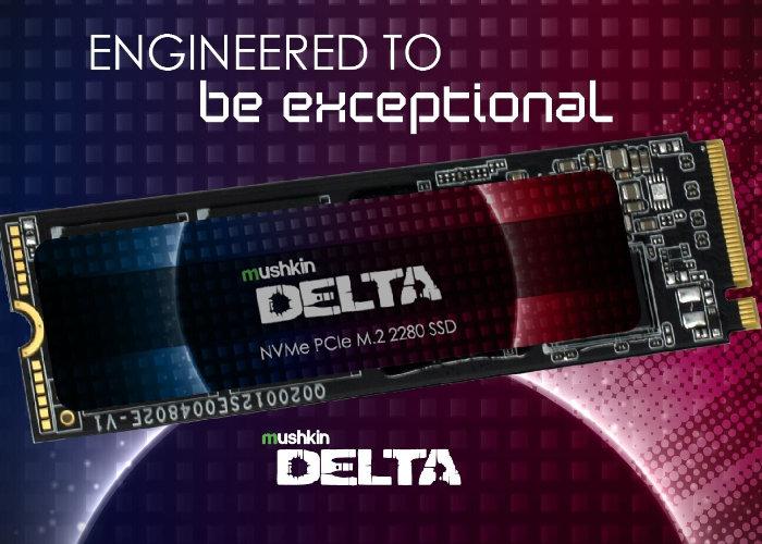 Mushkin Delta and Gamma Series SSD storage