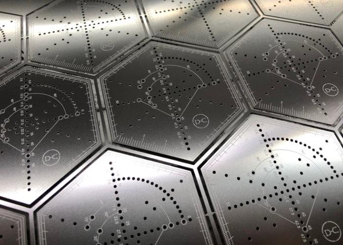 metal hexagonal ruler