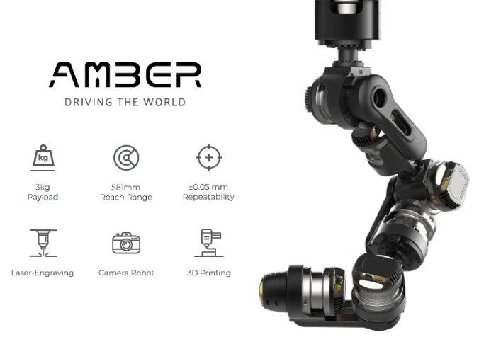 AMBER B1 modular 7-axis robot arm