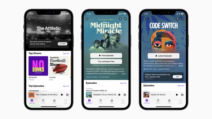 Apple Podcast Subscriptions