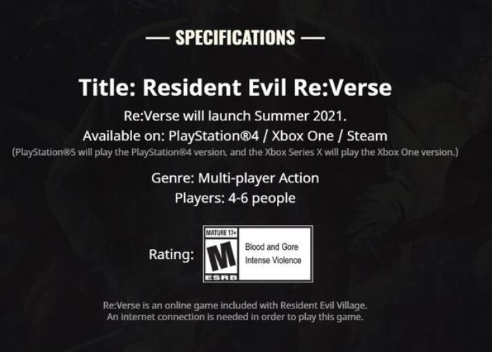 Resident Evil Re:Verse delayed to summer 2021