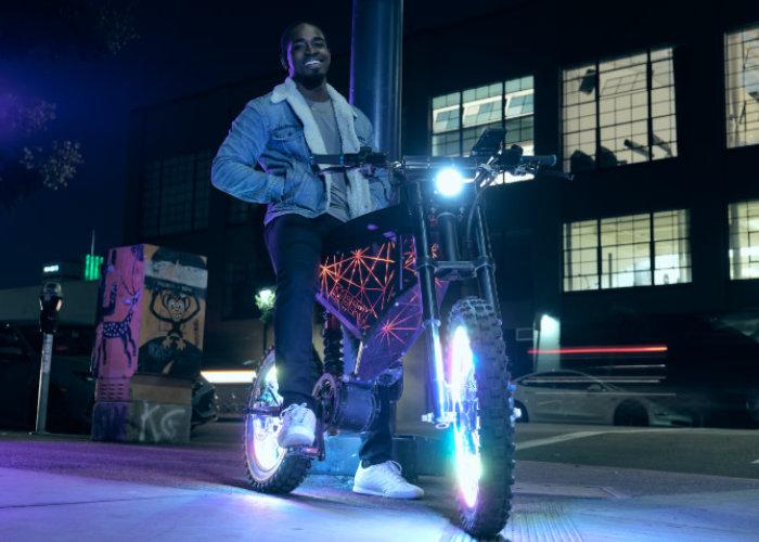 cyberpunk electric bike