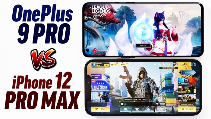 OnePlus 9 Pro vs iPhone 12 Pro Max