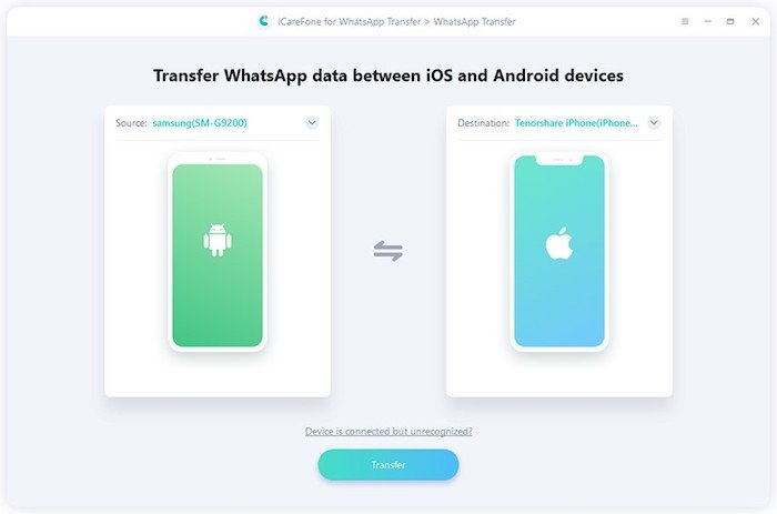 Transfer WhatsApp Business and WhatsApp from Android to iOS