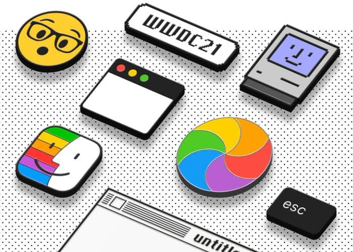 Apple Mac enamel pin set