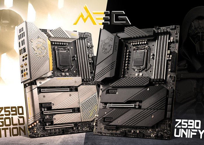 MSI MEG Z590 ACE Gold Edition and Z590 Unify Series motherboards