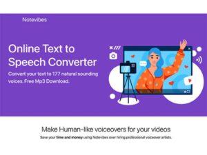 Notevibes Text to Speech
