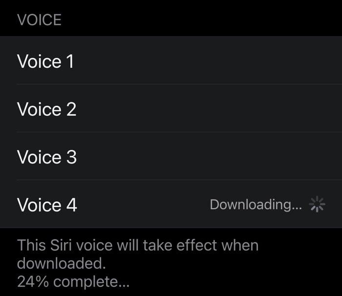 change Siri's voice