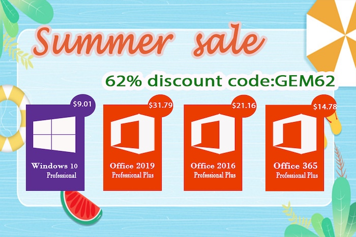 Summer Sales: Windows 10 pro key