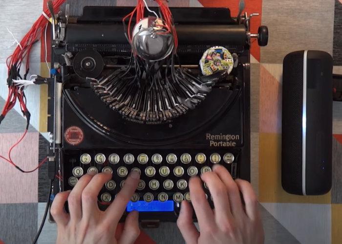 typewriter MIDI controller
