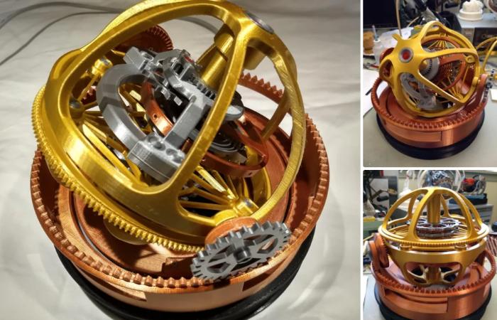 3D printed tourbillon