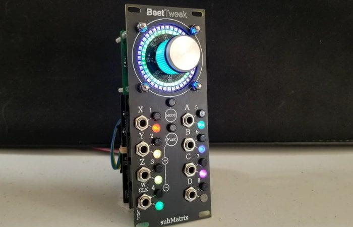 BeetTweek Eurorack DSP module with haptic feedback
