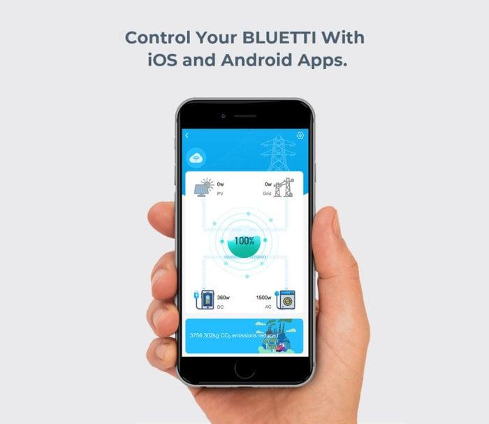 Bluetti power station phone application