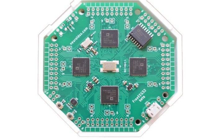 FreeEEG32 open source 32-channel EEG ADC